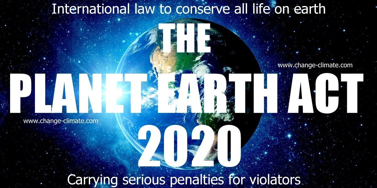 Save Planet Earth from the politicians for the people and their children